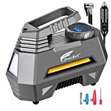 HAUSBELL Portable air Compressor for Car Tires, 12V DC Air Compressor tire inflator Pump, 150 PSI with Emergency LED...