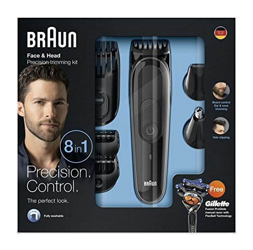 Braun MGK3060 8-in-1 All-in-One Beard Trimmer for Men