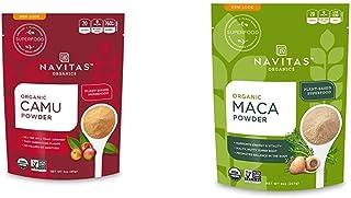 Navitas Organics Camu Camu Powder, 3 oz. Bag — Organic, Non-GMO, Gluten-Free & Maca Powder, 8 oz. Bag — Organic, Non-GMO, ...