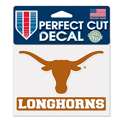 WinCraft NCAA University of Texas WCR37588014 Perfect Cut Color Decal, 4.5' x 5.75'