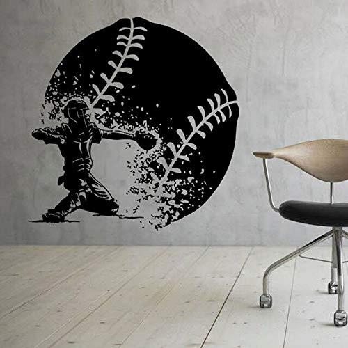Tinte Baseball Wand Vinyl Aufkleber Sport Aufkleber Kunst Design Wand Design Innenausstattung Junge ZimmerWandtattooDekoration andereFarbe M 42x43cm