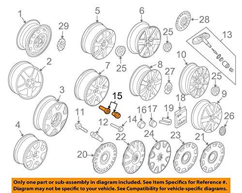 Volkswagen 1K0698137A Felgenschloß Radsicherung Radschrauben