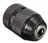 Eurobit 10150a mandril autoajustable Casquillo, Negro, 3/8–24, 2–13mm