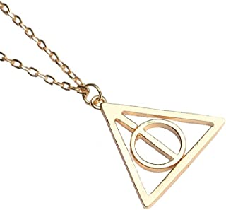 Harry Potter Deathly Hallows Necklace - Gold