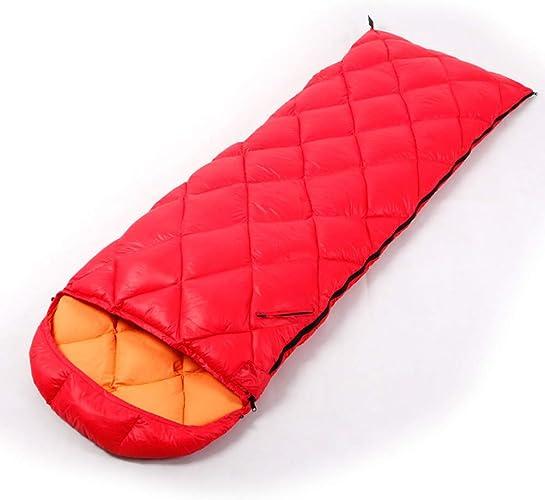 WYFDM Sac de Couchage avec Sac de Compression, Camping 4 Saisons Portable léger et Ultra-léger à Points de Camping pour randonneurs avec Une température de Confort de 5 à 15 ° C