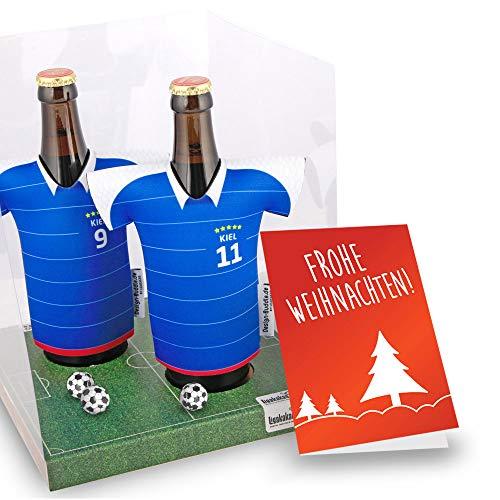 Weihnachts-Geschenk | Der Trikotkühler | Das Männergeschenk für Holstein Kiel-Fans | Langlebige Geschenkidee Ehe-Mann Freund Vater Geburtstag | Bier-Flaschenkühler by Ligakakao