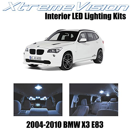 XtremeVision Interior LED for BMW X3 E83 SUV 2004-2010 (16 Pieces) Cool White Interior LED Kit + Installation Tool
