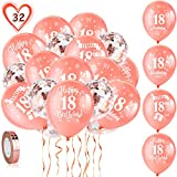 HOWAF 18th Birthday Decorations Balloons -Rose Gold ballonns Decorations
