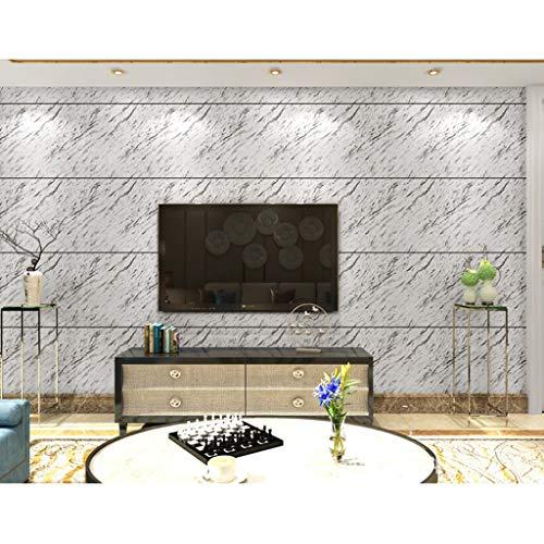 LYC behanglijm 3D marmer keramische tegels strepen behang voor de slaapkamer woonkamer TV achtergrond wand 0,53 * 10m1 / rol BZ0903