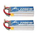 YOWOO 2 Packs 2200mAh 18.5V 5S 60C Lipo Battery with XT60 Plug for FPV Racing RC Quadcopter Helicopter Airplane Multi-Motor Hobby DIY Parts