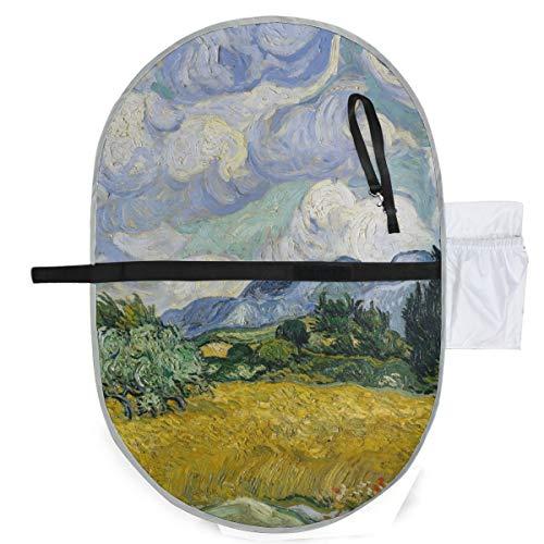 Van Gogh Art Arbre Champ De Blé Bébé Couches À langer Tapis Imprimé Matelas À Changer 27x10 Pouce Étanche Pliable Tapis Bébé Portable Station À Changer Un Matelas À Changer