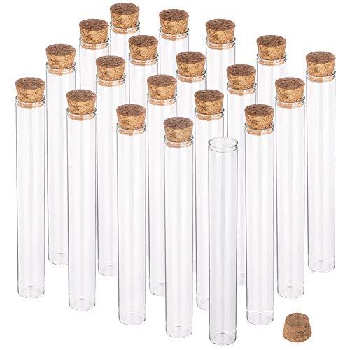 BENECREAT 15 Pack 40ml Botella de Vidrio Transparente con Corcho para Manuaildad de Artesanía Decoración de Boda y Fiesta 16x2cm