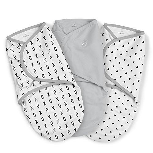 Summer Infant Swaddle Me Baby Blanket Wrap   Grey XO Swaddle Blanket (0-3 Months) 3 Pack
