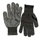 Ogquaton Estilismo superior para el cabello Guante resistente al calor Unisex Rizado para el cabello Alisado de guantes negro
