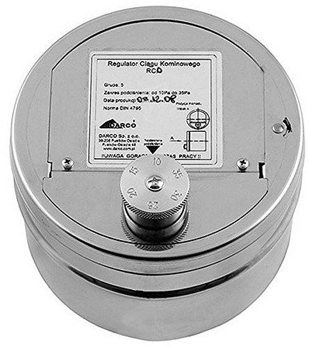 DARCO WS Zugregler/Zugbegrenzer RCO Durchmesser 150mm, 10-35Pa, Rostfrei
