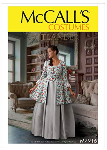 McCall's Patterns McCall's M7916E5 Outlander the Series Caraco Jacket and Full Skirt Women's Costume Sewing Patterns, Sizes 14-22 Schnittmuster