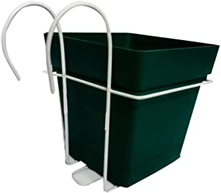 Mintra Square Planter - Green - 18x18cm with Metal Stand