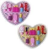 RTUTUR 8pcs / Set de Accesorios cosméticos de la Muchacha del Borrador de lápiz del corazón Caja de Regalo Papel de la Escuela