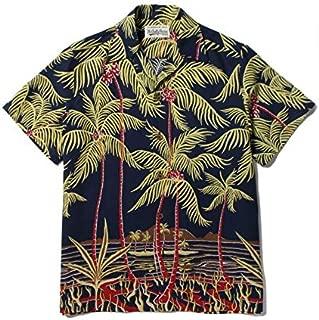 WACKO MARIA 18SS パームツリー アロハシャツ PALMS TREE S/S HAWAIIAN SHIRT ワコマリア L NAVY