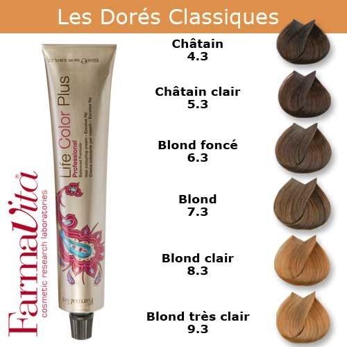 Coloration cheveux FarmaVita - Tons Dorés Classiques Blond très clair doré 9.3