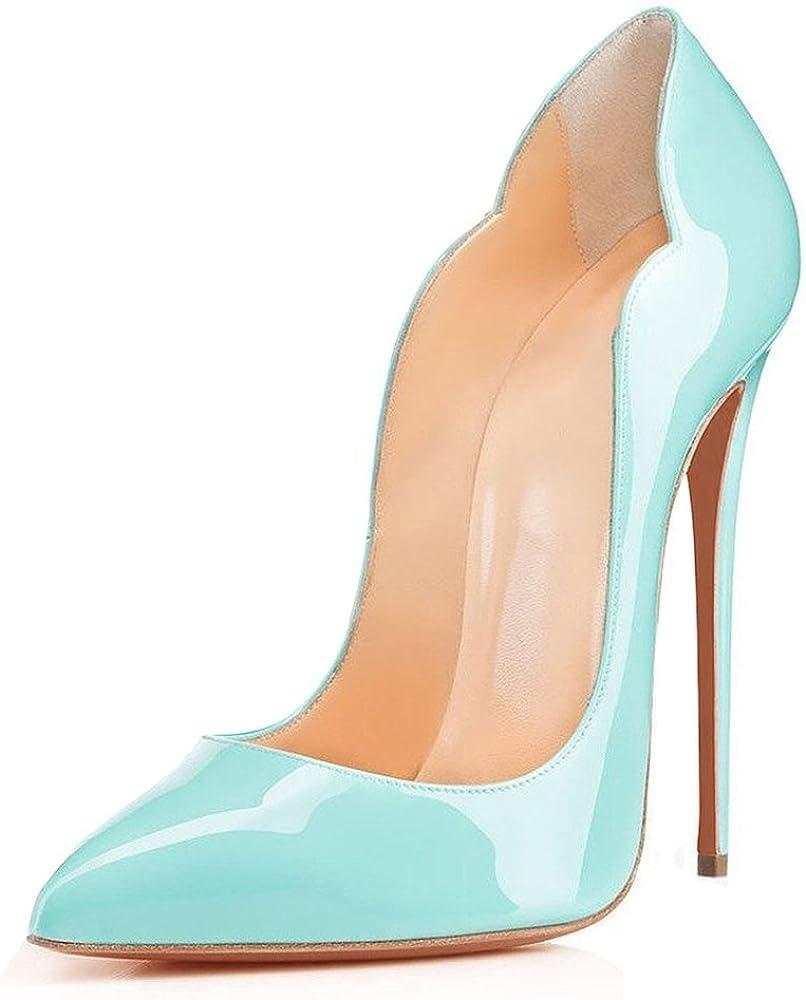 Edefs , scarpe col tacco a spillo per donna , in pelle sintetica EEIT033-12cm Leopard-4