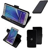 K-S-Trade® Handy Hülle Für Shift Shift5.3 Flipcase Smartphone Cover Handy Schutz Bookstyle Schwarz (1x)