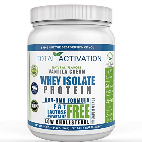 Lactose Free Protein Powder for Women & Men Whey Isolate Low Carb Low Calorie with Stevia Monk Fruit Sunflower Lecithin Compare with Men Protien Shake Powders Delicious Vanilla 14.82 oz