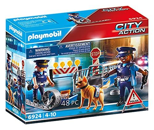 Playmobil City Action 6924 - Posto di Blocco della Polizia, dai 4 anni
