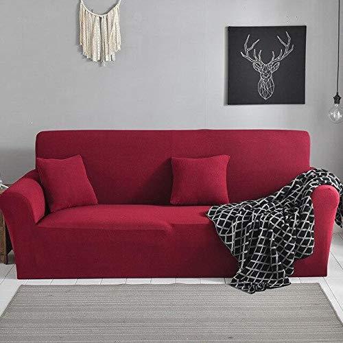 WXQY Funda de sofá elástica Antideslizante, Todo Incluido, Funda de sofá de Esquina en Forma de L, protección para Mascotas, Funda de sofá, combinación A27, 4 plazas