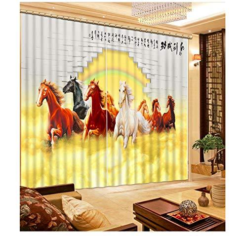 WKJHDFGB Grandes Cortinas 3D Cortinas Opacas para EL Dormitorio Sala De Estar Diseño De La Cocina Cortinas Transparentes Tamaño Personalizado Cortinas 245X280Cm