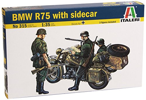 Italeri 0315 - Bmw With Side Car Model Kit  Scala 1:35