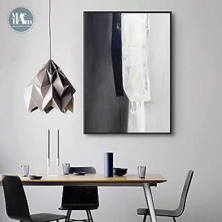 N / A Struttura in Bianco e Nero Astratta della Pittura a Olio Immagine di Arte della Tela Poster su Tela per Soggiorno De...