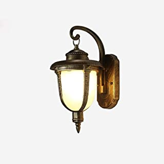 ZHCWT Aluminum Retro Waterproof Outdoor Wall Lamps Bronze Garden Lamp Villas Balcony Corridor Yard Decor Wall Light Fixtur...