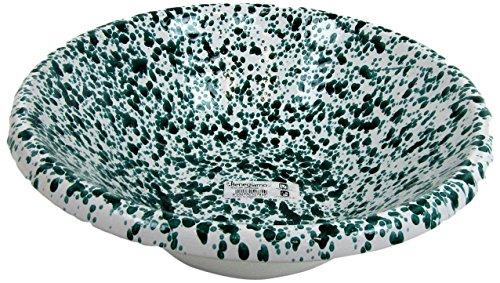 Viscio Trading 173969 Insalatiera Terracotta Schizzata, Avorio Verde, 38 cm
