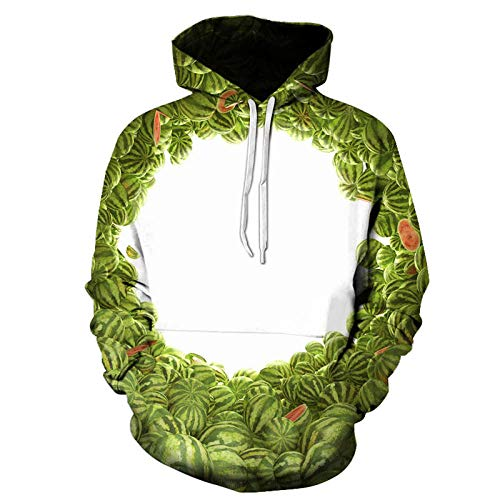 Watermelon Cave Hooded Sweater Unisex Realistische 3D Fashion Pullover Hoodie Hooded...