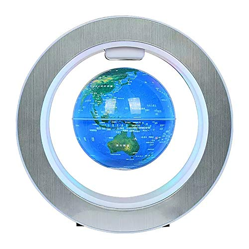 Siuber Globo Flotante con Luces LED C Forma Levitación magnética Mapa del Mundo Flotante, para Boyfriend decoración de la Oficina o decoración de la decoración de la habitación de los Hombres