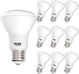 Sunco Lighting 10 Pack BR20 LED Bulb, 7W=50W, Dimmable, 2700K Soft White, E26 Base, Flood Light for Home or Office Space - UL & Energy Star