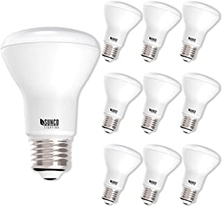 Sunco Lighting 10 Pack BR20 LED Bulb, 7W=50W, Dimmable, 4000K Cool White, E26 Base, Flood Light for Home or Office Space - UL & Energy Star
