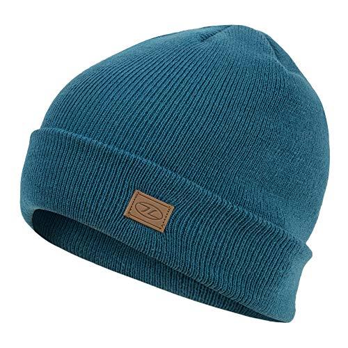HIGHLANDER Cappello da Sci Thinsulate - Classic Knit Beanie (Blu Oceano)