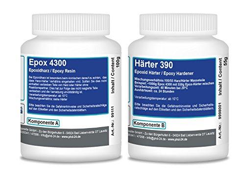 100g Epoxidharz Gelcoat 4300 + 55g Härter 390