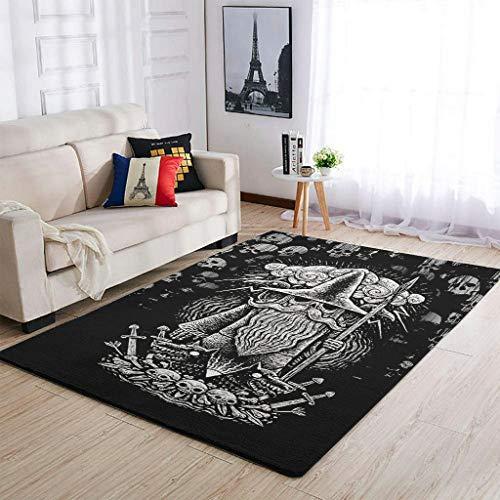 Alfombras duraderas Viking Crow para interior y salón, para dormitorio infantil, color blanco, 50 x 80 cm