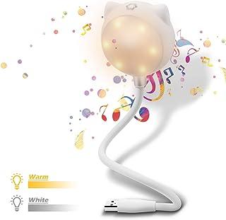 ELEGIANT Mini LED Luz USB con Altavoz Bluetooth, Lámpara