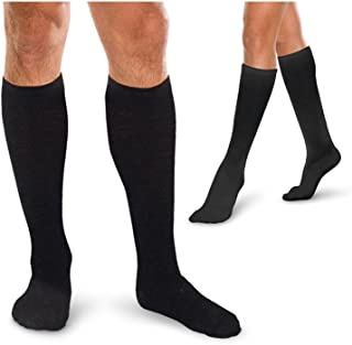Therafirm Core-SpunTherafirm LIGHT Medical Compression Socks - Knee High Socks (Black, M 10-15mmHg)