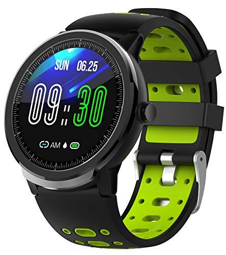 Smartwatch Fitnessuhr Damen Herren Schrittzähler Uhren Sportuhren Tracker Android IOS Fitness Armband Uhr mit Blutdruckmessung Laufuhren Wasserdicht