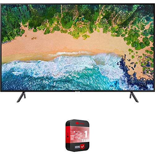 """Samsung UN75NU7100 (UN75NU7100FXZA) 75"""" NU7100 Smart 4K UHD TV 2018 Model with 2X 6ft High Speed HDMI Cable + Universal Screen Cleaner for LED TVs"""