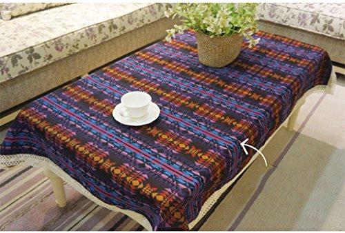 JCRNJSB® Ethnique Wind Cloth Diamant Stripe Lijiang Bar Vents Cloth Nappe Lavable et facile à entretenir ( Couleur : #1 , taille : 140*220cm )