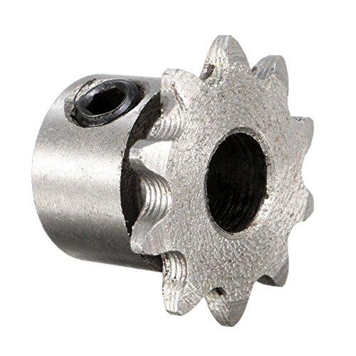 EsportsMJJ 8mm Bohrung 10 Zähne Metall Zahnrad Motor Roller Kettenantrieb Kettenrad