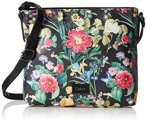 Gabor Damen Granada Bloom Umhängetasche, Schwarz (Schwarz), 26.5x24x6.5 cm