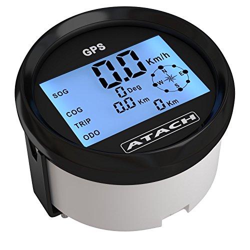 AndyTach 3-3/8'' ATACH Digital GPS Speedometer with high Speed Recall (Black/Black Bezel)