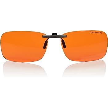 Clip-on Blue Blocking Amber Lenses for Sleep - BioRhythm Safe(TM) - Nighttime Eye Wear - Special Orange Tinted Lenses Help You Sleep and Relax Your Eyes (Nighttime Lens)